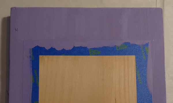 border around chalkboard painted